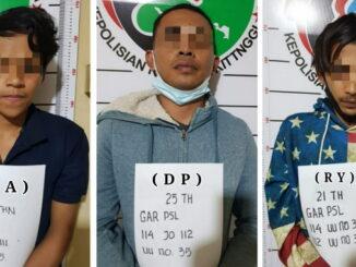Tiga penyalah guna narkoba yang diamankan.