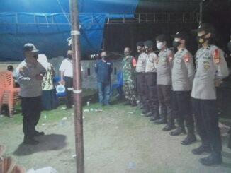 Apel konsolidasi yang dipusatkan di halaman Sekretariat Panitia Pemilihan Kecamatan (PPK) di Desa Barugaia.