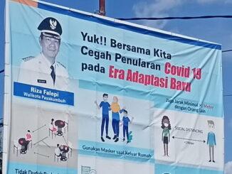 Baliho ajakan memutus mata rantai Covid-19 di Payakumbuh.