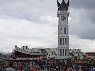 Jam Gadang di Kota Bukittinggi.