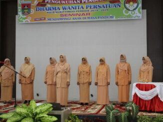 Pengukuhan pengurus DWP Bukittinggi periode 2019 - 2024.