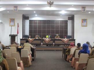 Rapat dan evaluasi di Kab. Solok.