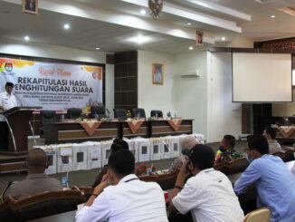 Rapat pleno rekapitulasi penghitungan suara Pilkada 2020 di Kab. Solok.