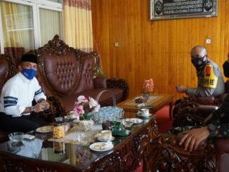 Wakil Bupati Sijunjung, Arrival Boy menerima kunjungan Kapolres Sijunjung dan Dandim SSD.