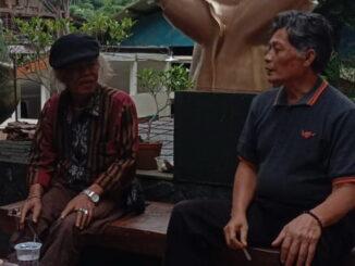 Amrizal Salayan saat diwawancarai.