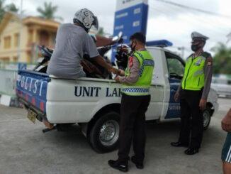 Motor bertangki besar yang diamankan polisi.