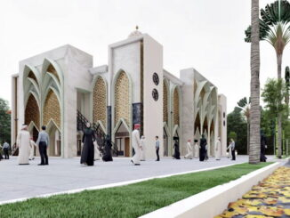 Ini maket Masjid Misbahul Ulum Kampus SMAN-1 Padang Panjang dengan tampilan desain baru