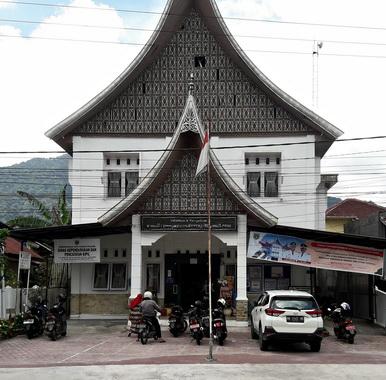 Kantor Dinas Dukcapil Padang Panjang.