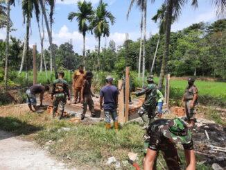 Kegiatan Pra TMMD di Lipek Pageh, Padang Pariaman.