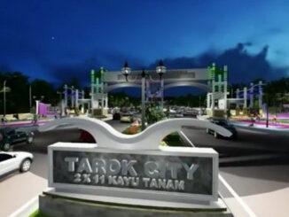Maket rencana pembangunan Pusat Pendidikan Terpadu (TPD) di Korong Tarok Nagari Kapalo Hilalang Kecamatan 2 x 11 Kayutanam.