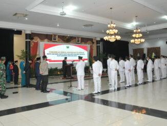 Pelantikan 11 kepala daerah oleh Gubernur Sumbar.
