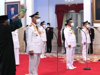 Pengambilan sumpah dan janji Gubernur Sumbar, Kepri dan Bengkulu.