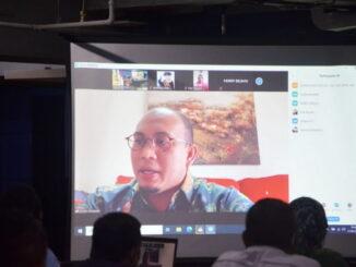 Andre Rosiade saat pidato secara virtual.