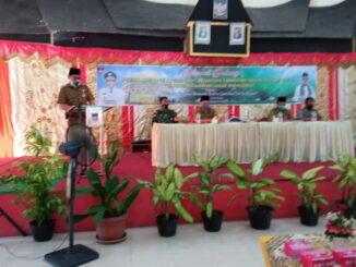 Camat Wilman Muchtar saat memberikan kata sambutan dalam kegiatan MOT Pesantren Ramadhan 1442 H.