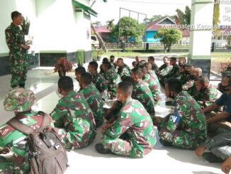 Dansatgas TMMD ke 110 Mentawai saat memberikan arahan.