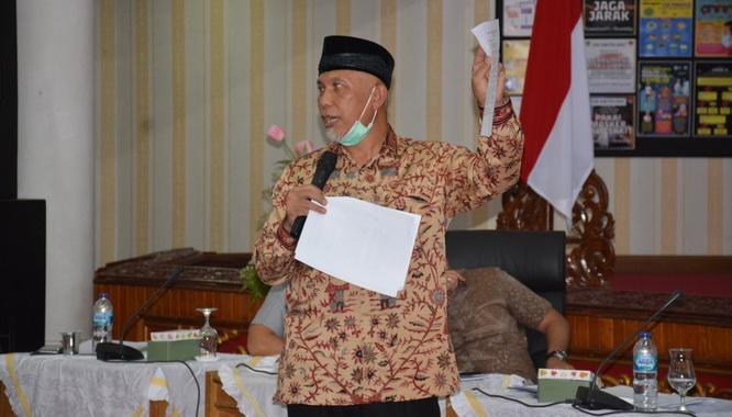 Gubernur Sumbar, Mahyeldi Ansharullah.