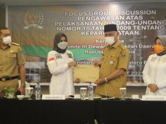 Gubernur dan Wagub Sumbar bersama Anggota Komisi III DPD RI.