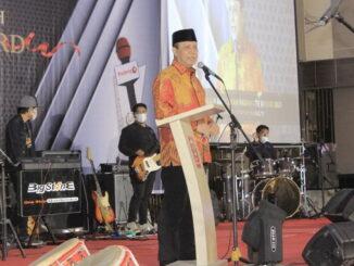 Komjen Boy Rafli saat orasi kebangsaan di Malam Anugerah Padang Tv Award 2021.