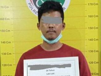 LVP tersangka pengedar shabu yang ditangkap Satres Narkoba Polres Tanah Datar.