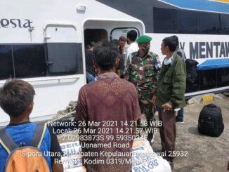 Pemantauan kapal Mentawai Fast.