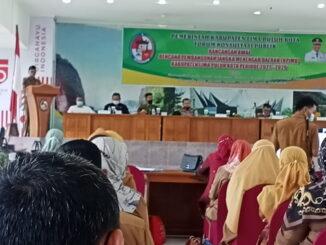 Pembukaan Forum Konsultasi Publik Rancangan awal RPJMD Limapuluh Kota 2021 - 2026 oleh Bupati Safaruddin.