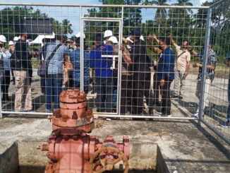 Peninjauan potensi minyak dan gas bumi di Sijunjung.