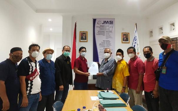Penyerahan sertifikasi Pengda JMSI Sumbar.