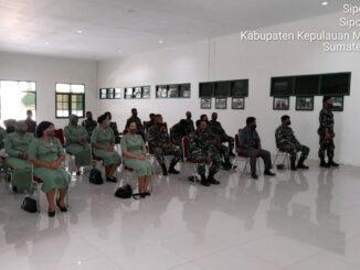 Penyuluhan hukum di Aula Kodim 0319 Mentawai.