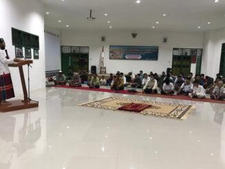 Peringatan Isra Mi'raj yang dilaksanakan Tim TMMD ke 110 Kab. Kepulauan Mentawai.