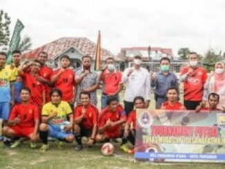 Peserta Open Turnament Tunas Muda Cup I di Naras Pariaman.