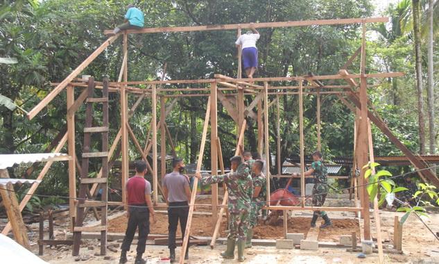 Salah satu rumah yang direhab oelh Tim TMMD ke 110 di Mentawai.