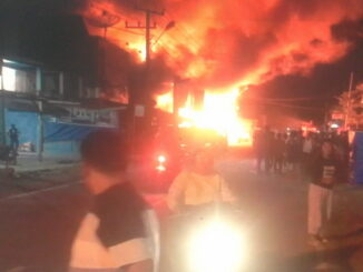 Sijago merah saat membakar pasar Kambang.