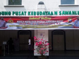 Spanduk Gelar Operasional Dan Pembinaan Rutin Bulanan Sejajaran Polda Sumbar Di Kota Sawahlunto 16 Maret 2021.