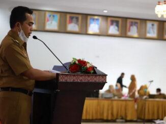 Wabup Rudi Hariyansyah saat memberi sambutan.