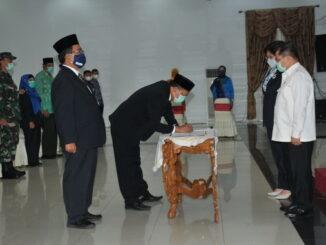Acara serah terima Jabatan Kepala BPKP Provinsi Sumbar.