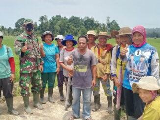 Babinsa Sipora bersama anggota Gapoktan Nemnemleu.