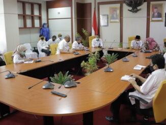 Kunjungan kepala BPOM RI wilayah Sumatera barat Firdaus Umar beserta rombongan ke Kota Solok.