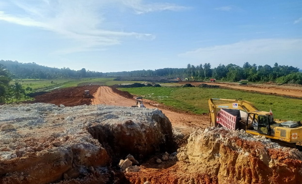 Lokasi pembangunan Bandara Nasional Rokot-Mentawai.