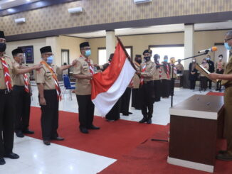 Pelantikan pengurus Kwartir Cabang 0314 Gerakan Pramuka Kota Payakumbuh masa bakti 2020-2025.