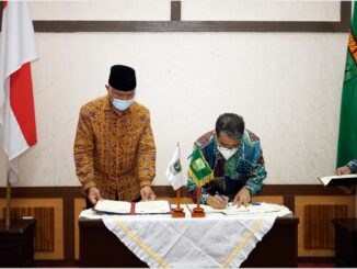 Penandatangan Νοta Kesepakatan dan rencana kerja antara pemerintah Provinsi Sumatera Barat dengan Universitas Andalas.