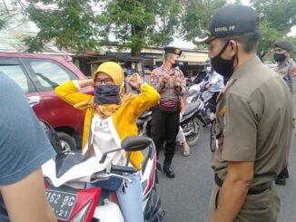 Penerapan protokol kesehatan di Kota Padang.