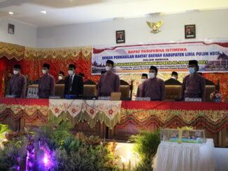 Rapat Paripurna DPRD Kab. Limapuluh Kota.