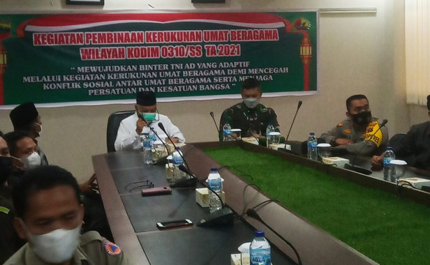 Wakil Walikota Sawahlunto H. Zohirin Sayuti, SE dan Dandim 0310/SS Letkol Inf Endik Hendra Sandi, S.Sos, M.I.Pol.