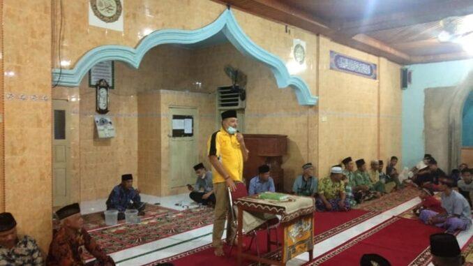 Zarfi Deson sambutannya di Masjid Baiturahman