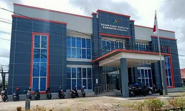 Gedung baru BPS Pasaman.
