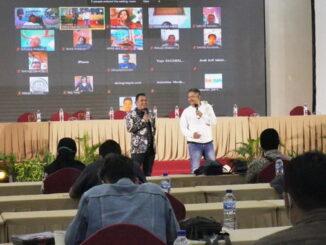 Kuncoro dan Rulli Aryanto saat sampaikan kata sambutan di acara Press Conference,