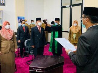 Pelantikan pejabat eselon II dan III di Pemko Payakumbuh.