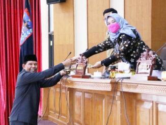 Penyerahan Rekomendasi DPRD Terhadap LKPJ Wali Kota Payakumbuh Tahun 2020.