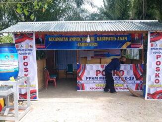 Posko covid 19 di Nagari Bawan Kabupaten Agam.