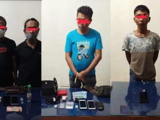 Tersangka penyalahaan narkoba yag ditangkap tim opsnal Narkoba Satreskrim Polres Bukittinggi.
